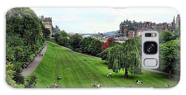 Landscape Edinburgh  Galaxy Case by Chuck Kuhn
