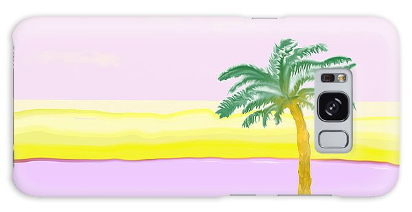 Landscape In Pink And Yellow Galaxy Case