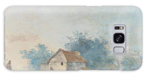 Pasture Galaxy Case - Landscape by Louis Gabriel Moreau