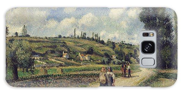 Hills Galaxy Case - Landscape Near Pontoise by Camille Pissarro