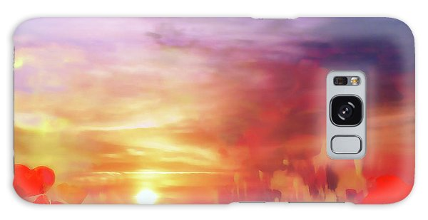 Landscape Of Dreaming Poppies Galaxy Case