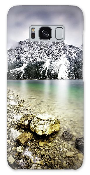 Landscape Of Plansee Lake And Alps Mountains During Winter, Snowy View, Tyrol, Austria. Galaxy Case