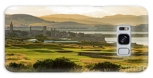 Landscape Of St Andrews Home Of Golf Galaxy Case by MaryJane Armstrong