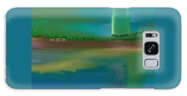 Landscape With A Chance Of Rain Galaxy Case by Lenore Senior