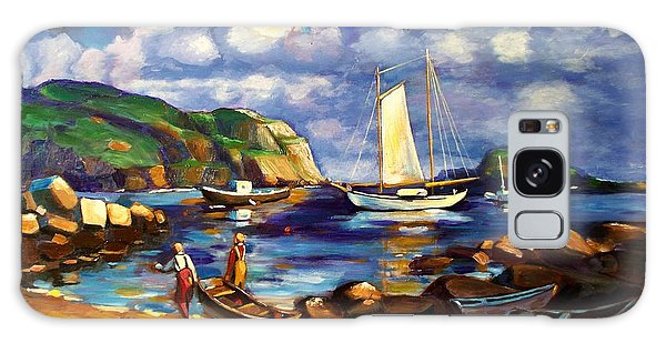 Landscape With Boats Galaxy Case