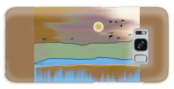 Landscape With Crows - Color Galaxy Case by Lenore Senior