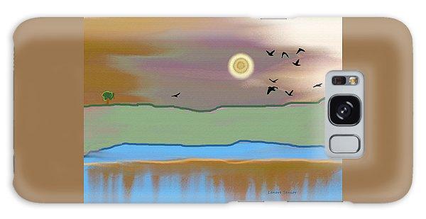 Landscape With Crows - Color Galaxy Case