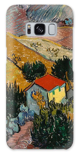 Galaxy Case featuring the painting Landscape With House And Ploughman by Van Gogh