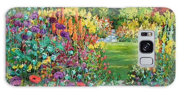 Landscape With Poppies Galaxy Case