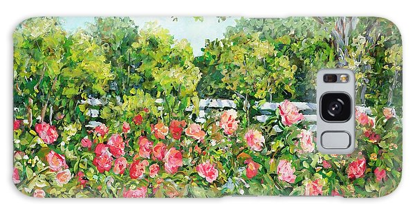 Landscape With Roses Fence Galaxy Case