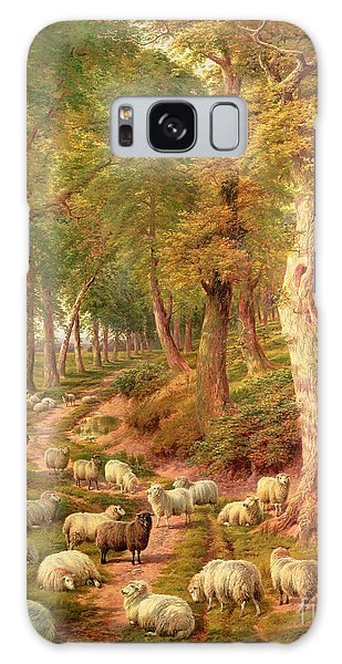 Rural Scenes Galaxy S8 Case - Landscape With Sheep by Charles Joseph
