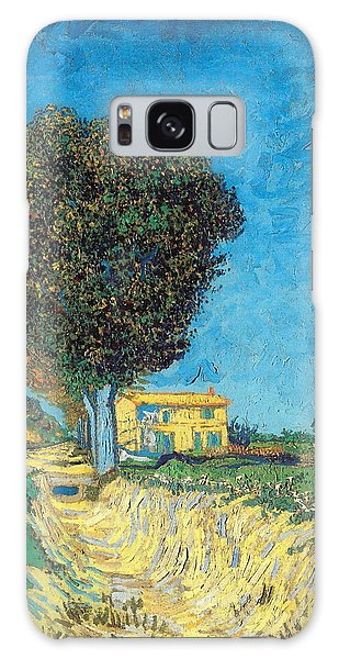 Galaxy Case featuring the painting Lane Near Arles by Van Gogh