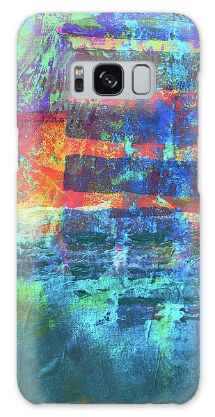 Galaxy Case featuring the painting Language by Nancy Merkle