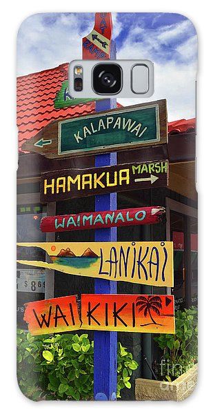 Lanikai Kailua Waikiki Beach Signs Galaxy Case