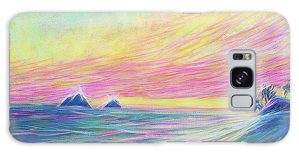 Galaxy Case featuring the painting Lanikai Sunrise by Angela Treat Lyon