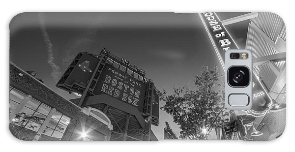 Lansdowne Street Fenway Park House Of Blues Boston Ma Black And White Galaxy Case