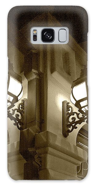 Lanterns - Night In The City - In Sepia Galaxy Case by Ben and Raisa Gertsberg