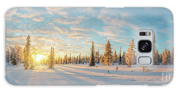 Lapland Panorama Galaxy Case by Delphimages Photo Creations