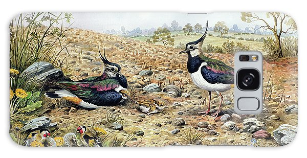 Lapwing Galaxy Case - Lapwing Family With Goldfinches by Carl Donner