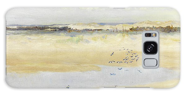 Lapwing Galaxy Case - Lapwings By The Sea by William James Laidlay