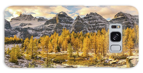 Moraine Lake Galaxy Case - Larch Valley Golden Larches Landscape by Mike Reid