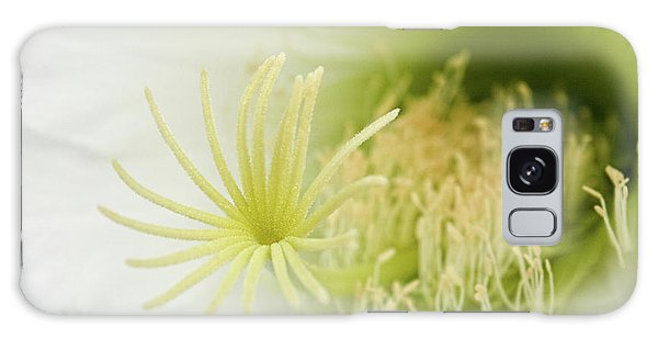 Large Delicate White Cactus Flower Galaxy Case