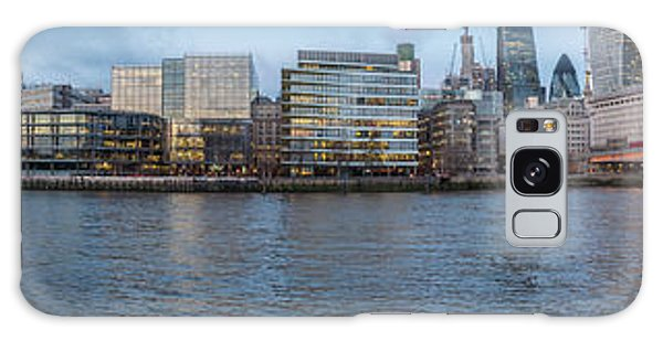 Large Panorama Of Downtown London Betwen The London Bridge And T Galaxy Case