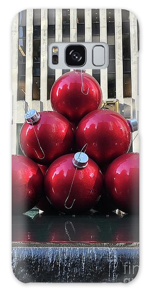 Large Red Ornaments Galaxy Case