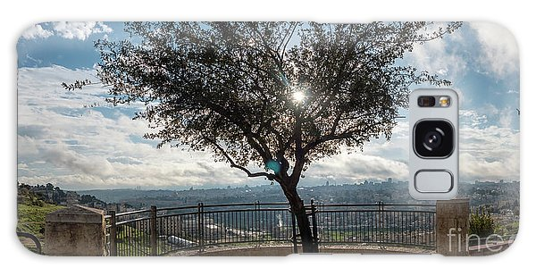 Large Tree Overlooking The City Of Jerusalem Galaxy Case