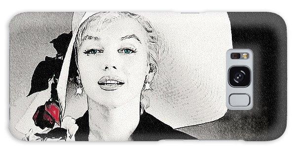 Large White Hat -marilyn Monroe  - Sketch Galaxy Case