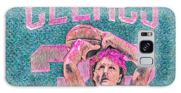 Larry Bird Boston Celtics Digital Painting Pink Galaxy Case