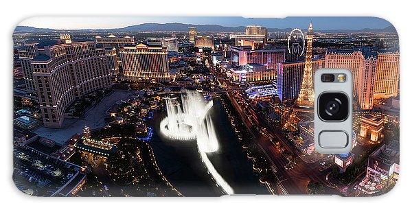 Desert View Tower Galaxy Case - Las Vegas Lights by Steve Gadomski