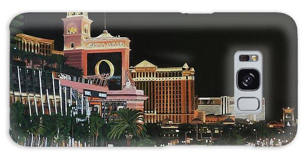 Las Vegas Strip Oil On Canvas Galaxy Case