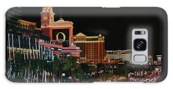 Las Vegas Strip Oil On Canvas Painting Galaxy Case