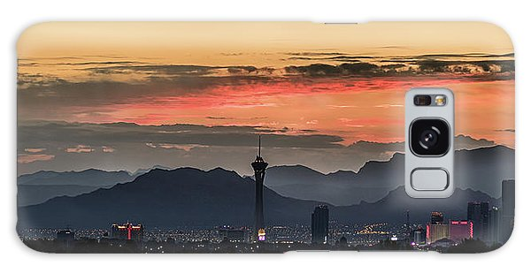 Galaxy Case featuring the photograph Las Vegas Sunrise July 2017 by Michael Rogers