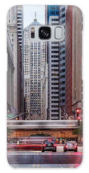 Lasalle Street Canyon With Chicago Board Of Trade Building At The South Side II - Chicago Illinois Galaxy S8 Case