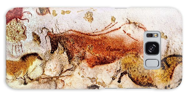 Lascaux Cow And Horses Galaxy Case