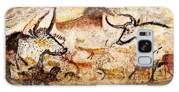Lascaux Hall Of The Bulls - Deer And Aurochs Galaxy Case