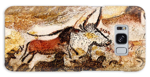 Lascaux Hall Of The Bulls - Horses And Aurochs Galaxy Case