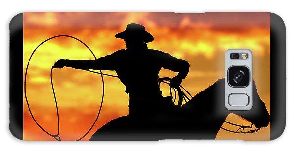 Galaxy Case - Lasso Sunset Cowboy by Shawn Hamilton