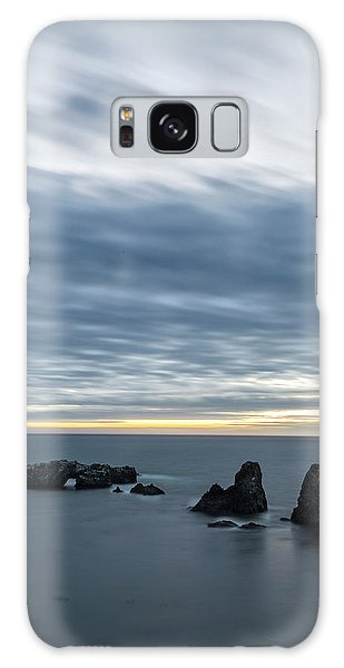 Sea Stacks Galaxy Case - Last Color Before Night by Jon Glaser