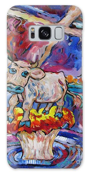 Last Cow Standing Galaxy Case by Dianne  Connolly