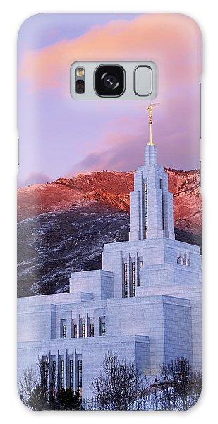 Temple Galaxy Case - Last Light At Draper Temple by Chad Dutson