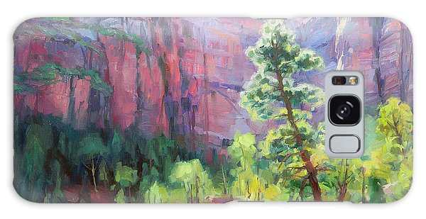 Galaxy Case featuring the painting Last Light In Zion by Steve Henderson