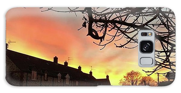 Last Night's Sunset From Our Cottage Galaxy Case by John Edwards