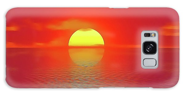Galaxy Case featuring the painting Last Sunset by Harry Warrick