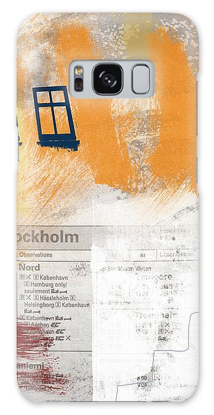 Sweden Galaxy Case - Last Train To Stockholm- Art By Linda Woods by Linda Woods