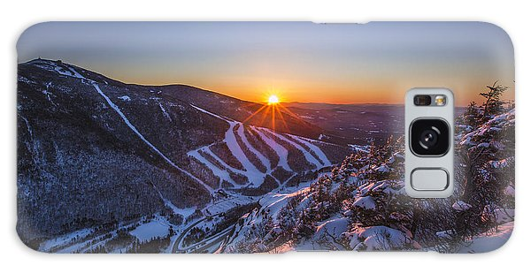 Last Winter Sunset Over Cannon Mountain Galaxy Case