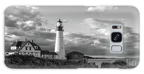 Late Afternoon Clouds, Portland Head Light  -98461 Galaxy Case by John Bald