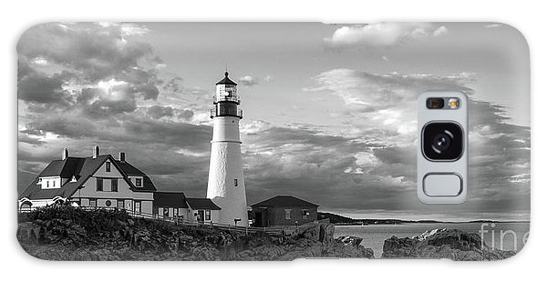 Late Afternoon Clouds, Portland Head Light  -98461 Galaxy Case
